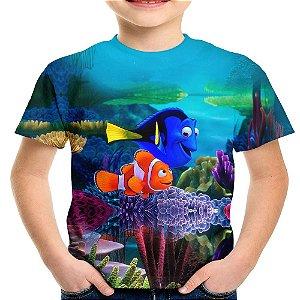 Camiseta Infantil Filme Procurando Nemo Md02