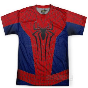 Camiseta Masculina Homem Aranha Traje Estampa Total MD01