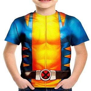 Camiseta Infantil Wolverine Traje