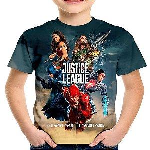 Camiseta Infantil Liga da Justiça Md03