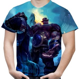 Camiseta Masculina Braum League of Legends Estampa Total