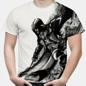 Camiseta Masculina Assassin's Creed Ezio Estampa Total