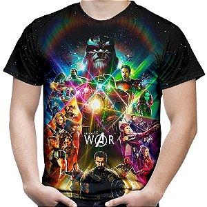 Camiseta Masculina Vingadores Guerra Infinita Avangers MD1