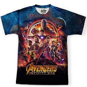 Camiseta Masculina Vingadores Guerra Infinita Avengers MD2