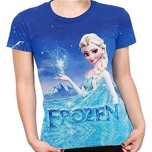 Baby look Feminina Frozen Estampa Total