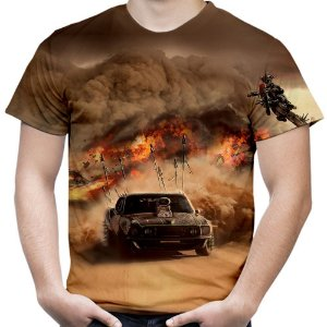 Camiseta Masculina Mad Max Estampa Total Md07