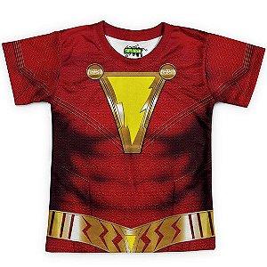 Camiseta Infantil Shazam Traje