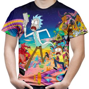 Camiseta Masculina Rick and Morty Md01