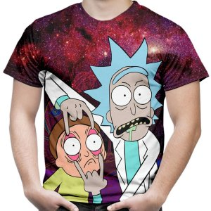 Camiseta Masculina Rick and Morty Md03