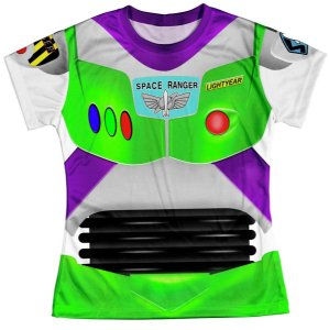 Baby Look Feminina Toy Story Buzz Lightyear Traje
