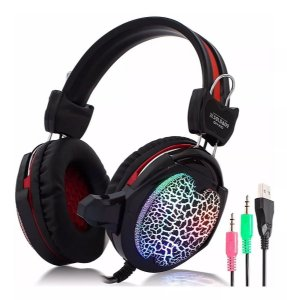 Headset Gamer com Microfone e Led Colorido GH-X10