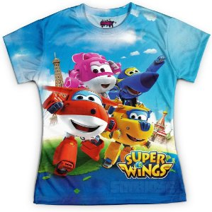 Baby Look Feminina Super Wings