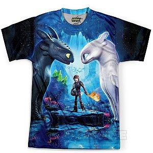 Camiseta Infantil Como Treinar Seu Dragão 3