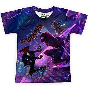 Camiseta Infantil Homem-Aranha no Aranhaverso Md09