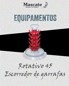 Escorredor de garrafas - capacidade 45 unid