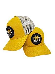 Boné  Duvália cap com aplique 3D amarelo