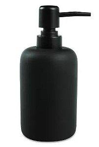 Porta sabonete líquido em cimento preto 17x7,5 cm