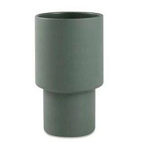 Cachepot em cimento - Verde 25x15 cm