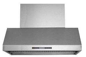 Coifa Alpha 125 Profissional, Filtro Inercial, Capacidade sucção 2.000m³/h, Chaminé retrátil até 90cm, Aço Inox 304-Evol
