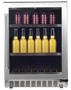 Cervejeira 135 Litros, 3 Prateleiras de ferro chromado, Modo Festa, Temperatura de 5 a -9 Graus, Porta Direita-127 V- Evol