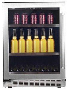 Cervejeira 135 Litros, 3 Prateleiras de ferro chromado, Modo Festa, Temperatura de 5 a -9 Graus, Porta Esquerda-220V -Evol