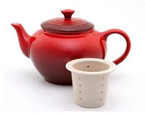 Bule de Cerâmica 600 ml com infusor Vermelho- Lê Creuset