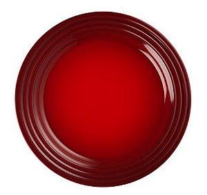 Prato raso em Cerâmica, vermelho- Lê Creuset