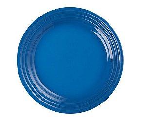 Prato raso em Cerâmica, Azul Marseille- Lê Creuset