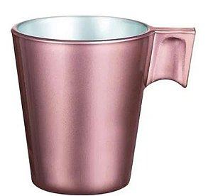 Xícara Vidro Temperado Rosé 80Ml