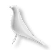 Pássaro decorativo  P na cor Alpaca-19x15x05