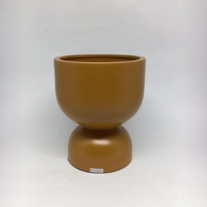 Chachepot em Cerâmica Ocre Fosco-20,2 x 16,6 cm