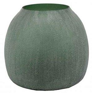 Vaso de Vidro Verde- 29 x 25cm