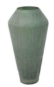 Vaso de Vidro Verde- 17,5 cm x 33 cm