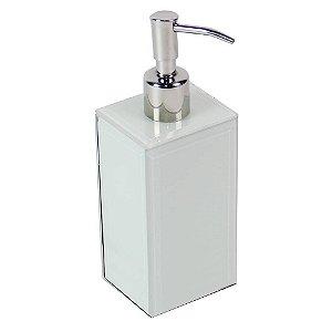Porta Sabonete Líquido - vidro branco
