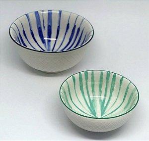 8f4f03b525 Conjunto de bowls em tons de azul esverdeado - Casa de Lila Presentes