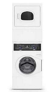 Lavadora e Secadora Conjugada Residencial Branco Speed Queen - A GÁS - 220V