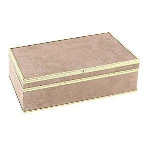 Porta joias de tecido rosa - 28 x 14 x 9 cm