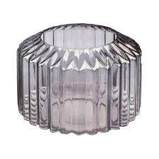 Vaso de vidro Pleast Style cinza - 20 x 20 cm