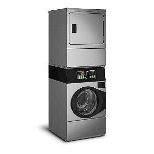 Lavadora e Secadora Elétrica Comercial Speed Queen Quantum 10 Kg Inox sem Cofre e Ficheiro 220V