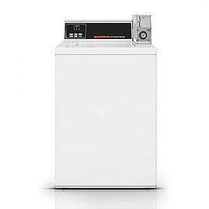 Lavadora Comercial Speed Queen de Carga Superior MDC 6,5 Kg Branca com Cofre e Ficheiro 220V