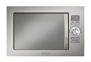 Forno microondas de embutir Tecno, 25 litros, com grill, 220V.