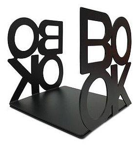 Conjunto de aparador de livros Book preto em metal - 13 x 13 x 12,5 cm
