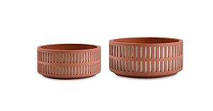 Conjunto de Vasos Terracota em cimento - 2 peças