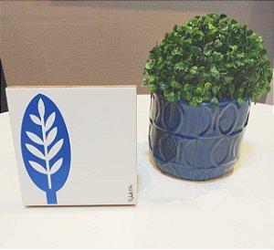 Azulejo Personalizado Artista Elizabeth Titon 15x 15 cm - Folha Azul