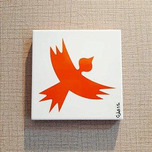 Azulejo Personalizado Elizabeth Titon 15x 15 cm - Pássaro Laranja
