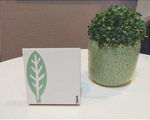 Azulejo Personalizado Artista Elizabeth Titon 15x 15 cm - Folha Verde Claro
