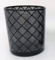 Porta velas de vidro Losangos - 8cm
