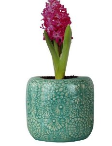 Vaso de Cerâmica Verde Flowers Urban