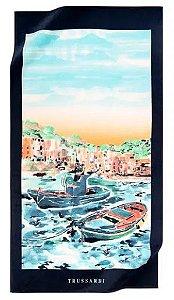 Toalha de Praia Levanzo 100% Algodão 1,63 x 86 cm Trussardi