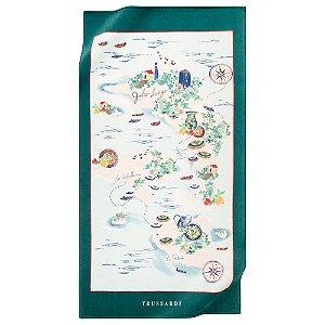 Toalha de Praia Delfini 100% Algodão 1,63 x 86 cm Trussardi